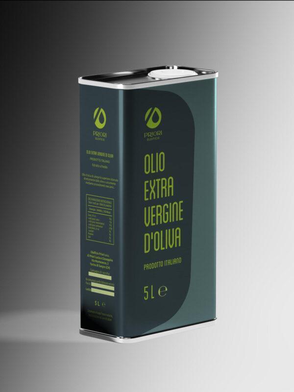 Latta da 5 litri di olio extra vergine d'oliva Priori - Olio della Costa dei Trabocchi